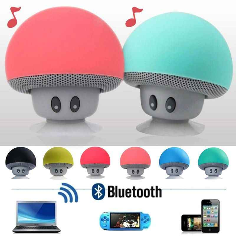 Mini Wireless Bluetooth Speaker MP3 Music Player with Mic Waterproof Portable Stereo Bluetooth Mushroom Speaker For Phone PC Z2