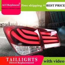 Car Styling LED Tail lights For Chevrolet Cruze 09 14 Taillight LED Running light + Dynamic Turn Signal + Reverse + Brake A Set