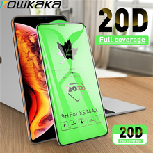 kowkaka 20D Protective Tempered Glass For iphone 7 6 6s 8 Plus 11 Pro XS Max XR X Glass iphone 7 8 Plus X Screen Protector Glass