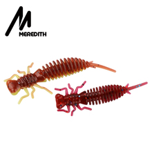MEREDITH Larva Soft Lures 50mm 62mm 85mm Fishing Artificial Silicone Bass Pike Minnow Swimbait Jigging Plastic Baits Worm