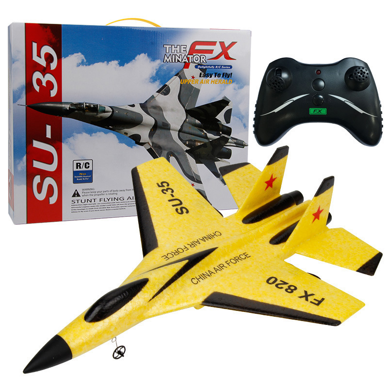 Beginner CHILDREN'S Toy Electric Remote Control Aircraft Outdoor Glider Fixed-Wing Model Airplane Fighter Plane Model Unmanned A