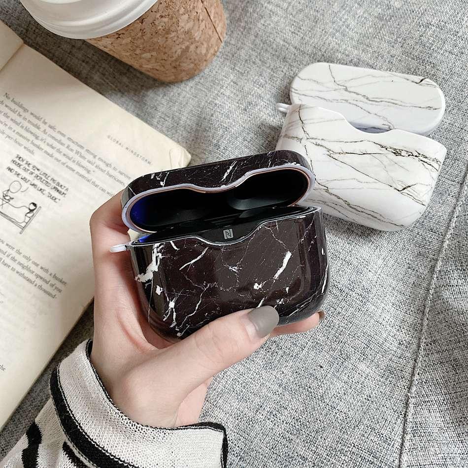 Pour Sony WF-1000XM3 Étui De Luxe Rétro Marbre Motif coloré Écouteur Étui Rigide pour Sony WF1000XM3 Couverture