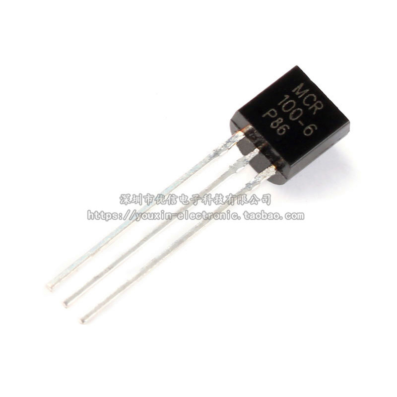 100pcs New MCR100-6 One-way Thyristor Thyristor TO92 In-line Triode