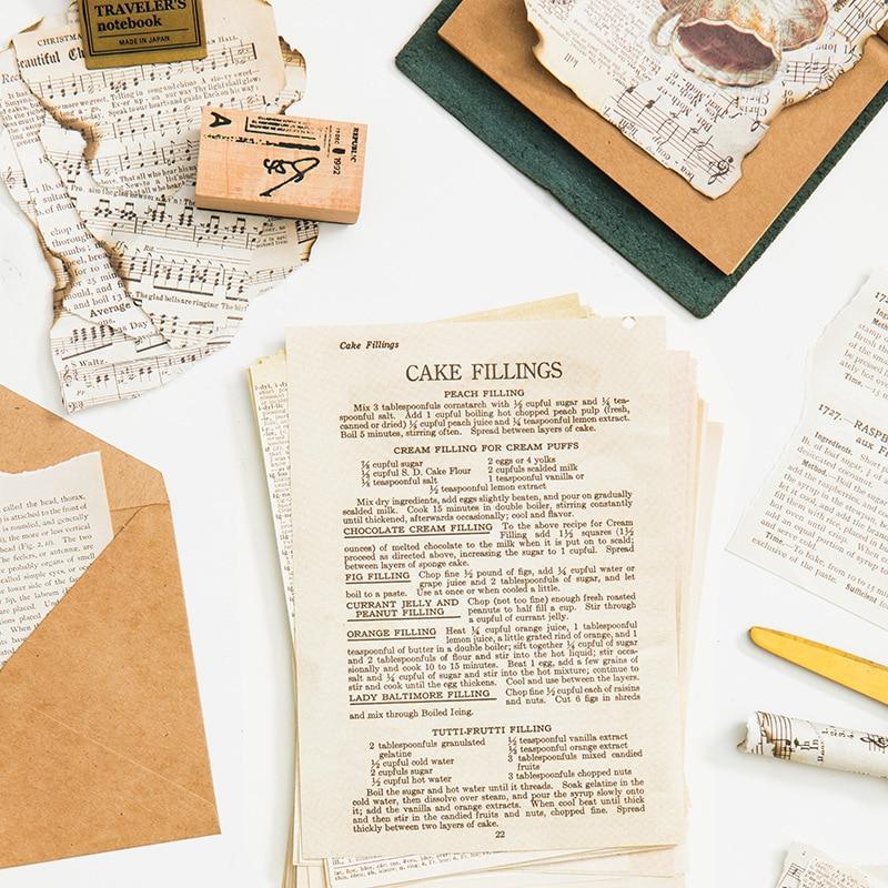 Old Book Series Scrapbooking/Card Making/Journaling Project DIY Kraft Retro Writing Paper Cards Piece