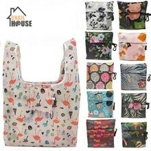 Snailhouse Women Foldable Eco Shopping Bag Tote Pouch Portable Reusable Grocery Storage Environmental Protection