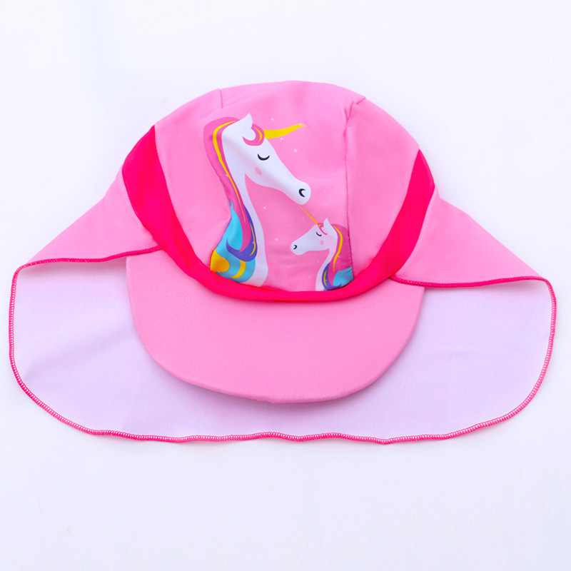 New Style KID'S Swimwear Girls 3-13-Year-Old One-piece Swimsuit For Children Korean-style Cartoon Pink GIRL'S Swimsuit Blisters