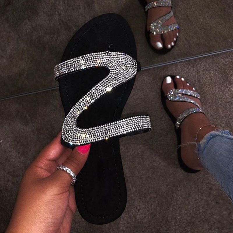 Ladies Womens Slip On Mule Sliders Sparkly Sequin Beach Flat Sandals Shoes Size