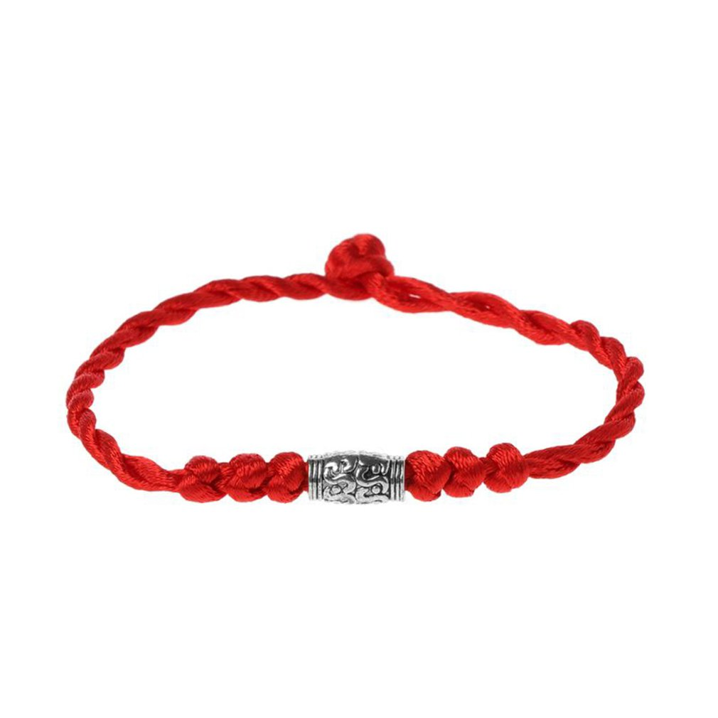 New hand-woven natal year Tibetan silver red rope simple bracelet for women men lucky string rope red bracelet couple gift