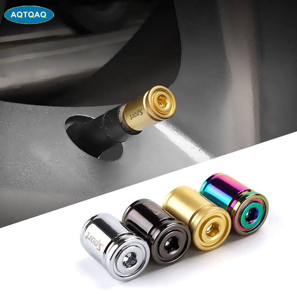 Airtight-Covers Stem-Air-Cap Car-Tire-Valve-Caps Wheel-Tires Anti-Theft-Sport Car-Styling
