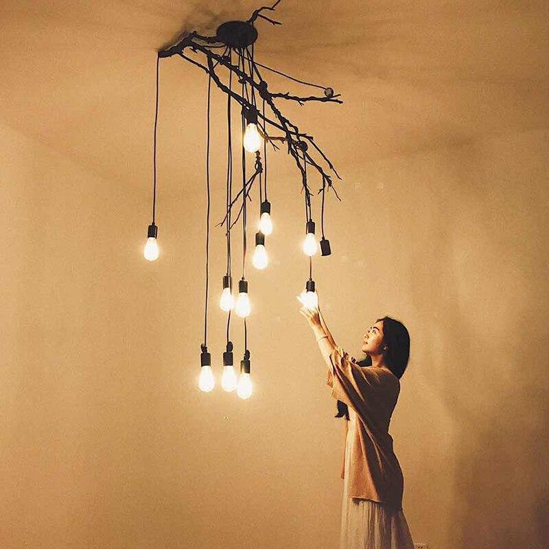 Image 3 - DIY Pendant lights Modern Retro Hanging Lamps Edison Bulb Fixtures Spider Ceiling Lamp Fixture Light for Living Room Home Decorlight choirlight up your lifelighting a pilot light -