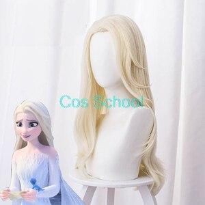 Image 2 - Cos School Frozen 2 Cosplay Wigs Elsa Anna Kristoff Men and Women Wigs Snow Queen Princess Hair Halloween Wig Accessories
