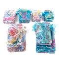 50 шт./лот 7x9 см 9x12 см 10x15 см 13x18 см, сумки из органзы на шнурке, сумки для упаковки ювелирных изделий, свадебный подарочный пакет, мешочки для юв...