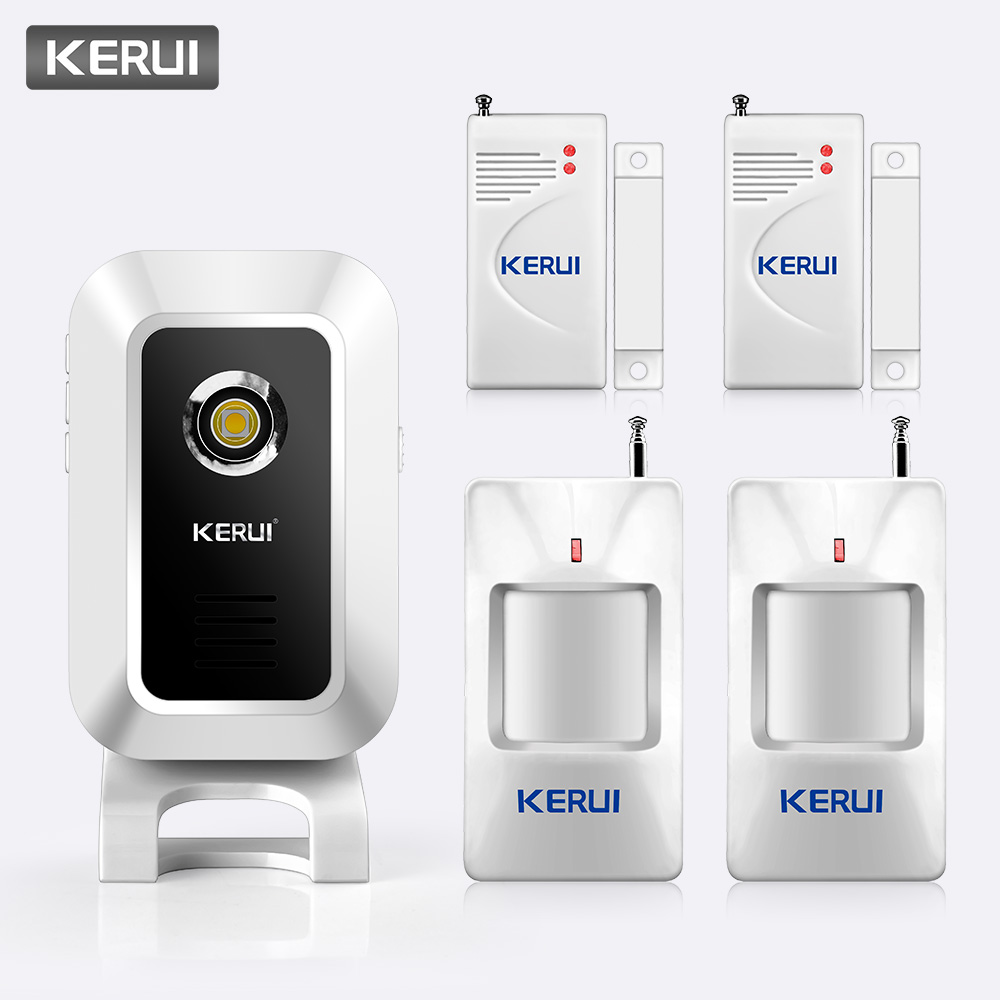 KERUI M7 32 Music Options Wireless 433MHz PIR Motion Wireless Burglar Strobe Light Welcome Chime Doorbell