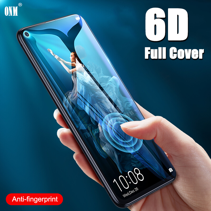 6D Tempered Glass For Huawei Honor 20 Pro Full Cover Curved Screen Protector Film On The For Huawei Honor 20 Protective Glass