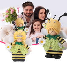 World Bee Day Plush Tabletop Elf Ornament Bee Doll Plush Toys Handmade Bee Doll For Mothers Day Decorations Graduation Ceremony