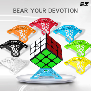 New QIYI DNA 7pcs Color 2x2 3x3 4x4 Cube Stand Top Quality Speed Magic Speed Cube Plastic Base Holder Educational Learning Toys