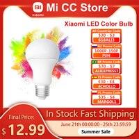 Xiaomi MIjia Philips-bombilla LED de Color para el hogar, Bombilla Original E27 de 1880-7000K con Wifi y Control remoto por aplicación Mi Home