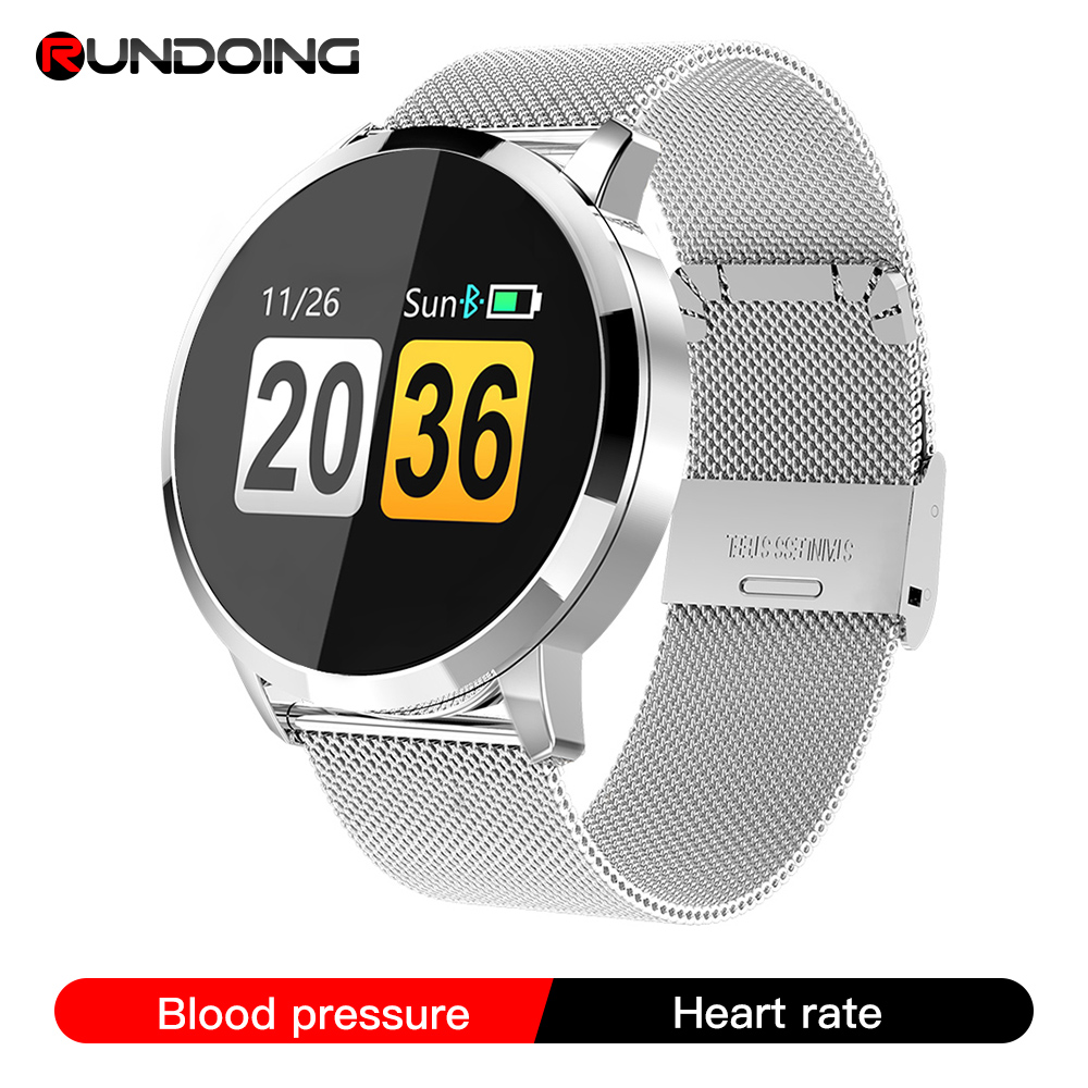 RUNDOING Q8 Smart Watch OLED Color Screen Smartwatch women Fashion Fitness Tracker Heart Rate monitor|Smart Watches|   - AliExpress