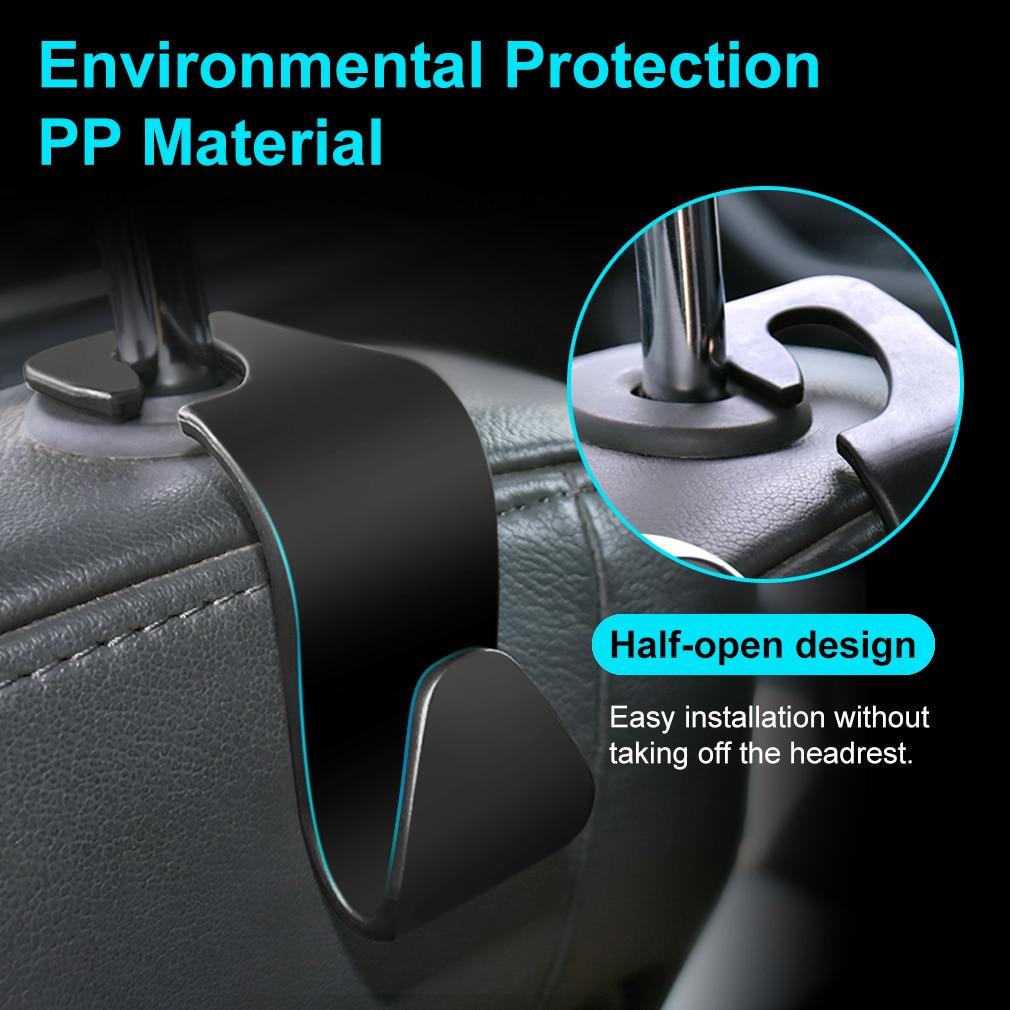 Hangers-Organizer Car-Hooks 1pcs Auto Headrest-Mount House-Storage Styling Universal
