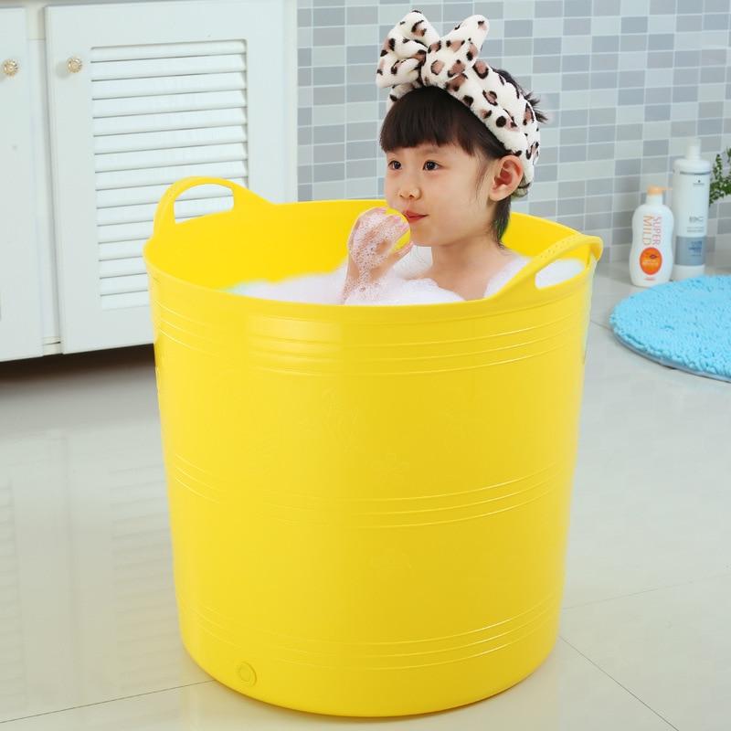 Heightening Large Size Bath Barrel Bath Bucket Children Bath Bucket Plastic Kids Infant Bath Barrel Baby Swimming Bath Basin