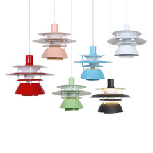 Nordic E27 aluminium Pendant Light Colorful Umbrella Led Lamp Dining Room Indoor Lighting Fixtures