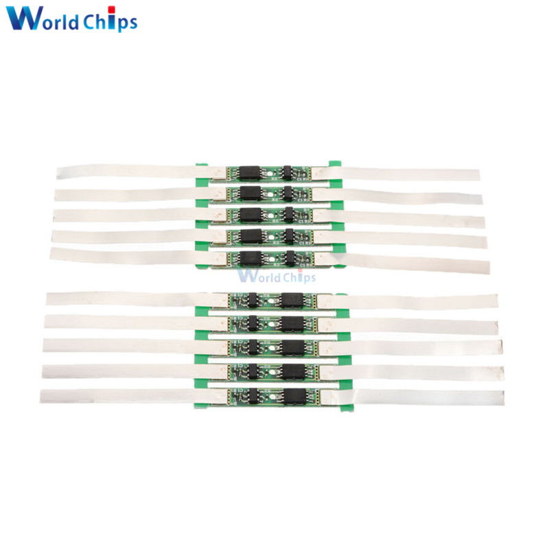10pcs 1S 3.7V 2A/3A/4.5A/6A/7/9A BMS <font><b>18650</b></font> Li-ion Lithium Battery Charging Protection <font><b>Board</b></font> 1/2/3/4/5/6 Mos Lipo <font><b>Power</b></font> <font><b>Bank</b></font> Cell image