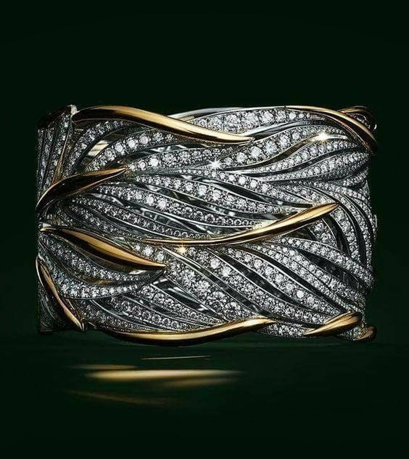 Gold Silver Color Big Band Wing Feather Ring for Women Wedding Engagement Fashion Jewelry with Zircon Stone S925 Silver 2019 New