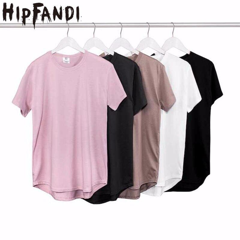 2019 Summer Pure   T  -  shirt   pink black Wholesale Extended Long   T     shirt   Mens Hip Hop New design Street Men Cheap   T     shirt