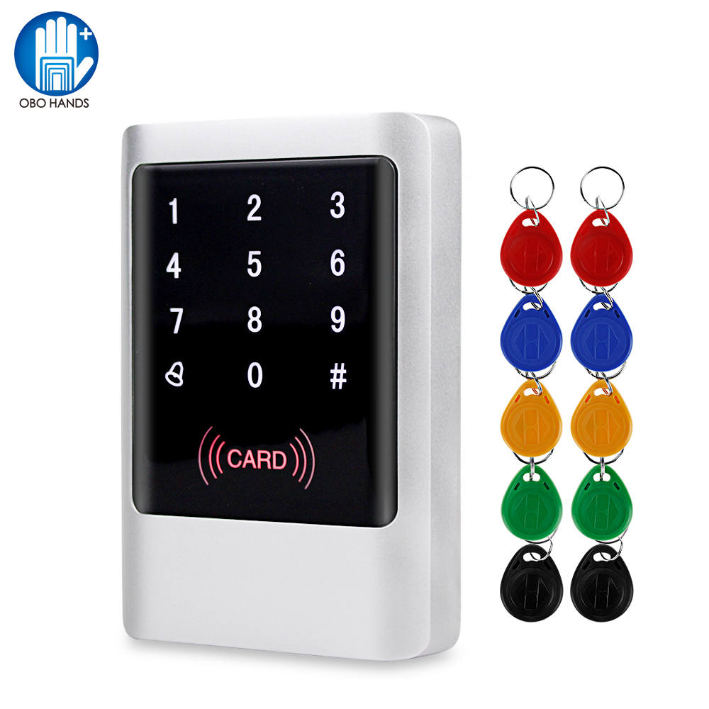 IP65 Waterproof RFID Keypad Access Control Board Card Reader Standalone Access Controller System Kit 125KHz 13.56MHz With Keys