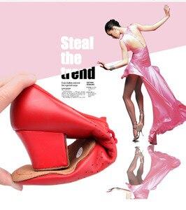 Image 4 - 5 センチメートルヒール天然皮革の女性のタンゴフラメンコ · ダンス教師の靴女の子ワルツタンゴフォックストロットダンスドレスクイックステップダンスシューズ