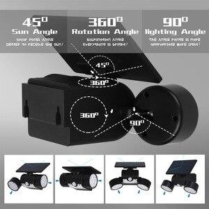Image 4 - Dış duvar lambası güneş LED ışık hareket sensörü duvar işıkları 30 LED IP65 su geçirmez çift ışık kafa veranda garaj hızlı kargo