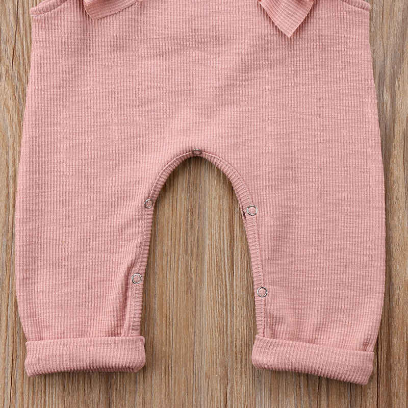 Verano bebé niña niños volantes mameluco sin mangas sólido pantalones largos ropa de punto mono
