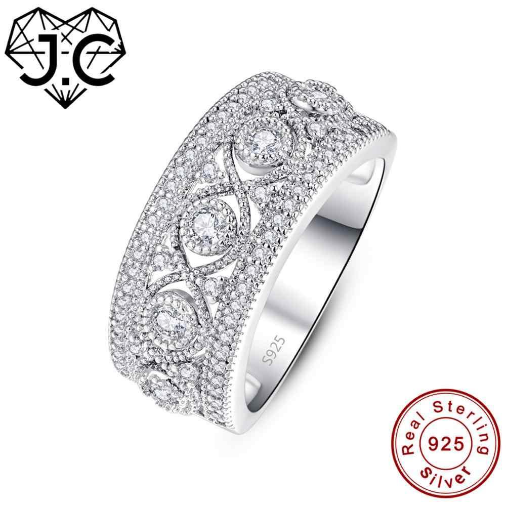 J.C, круглая огранка, танзанит и рубин, белый топаз, изумруд, 925 пробы, серебряное кольцо, размеры 6, 7, 8, 9, женское классическое ювелирное изделие, подарок