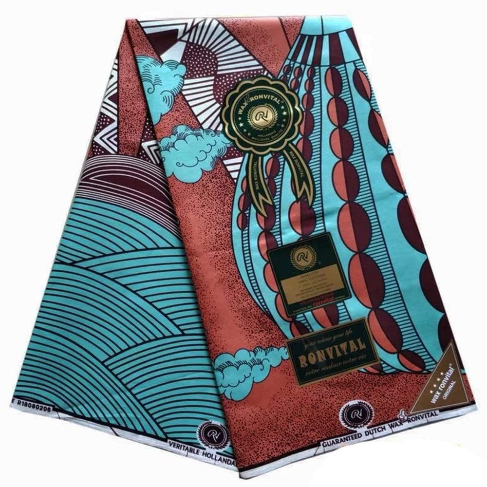 Dutch Wax African Dutch Veritable Ankara Fabric 2019 Latest African Fabric Print 100% Cotton Pagne Africain Hot Wax