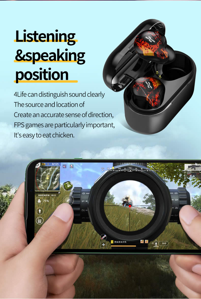 Plextone 4Life True Wireless Gaming Earbuds 6