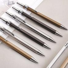 Crayon mécanique en métal 0.5mm/0.7mm, 2 pièces/lot, recharge de plomb, papeterie d'écriture pour étudiant, crayons automatiques, fournitures scolaires et de bureau