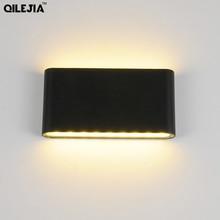 Светодиодный настенный светильник водонепроницаемый наружный настенный светильник IP65 Алюминиевый 6 Вт/12 Вт светодиодный настенный светильник для помещений декорированный настенный светильник