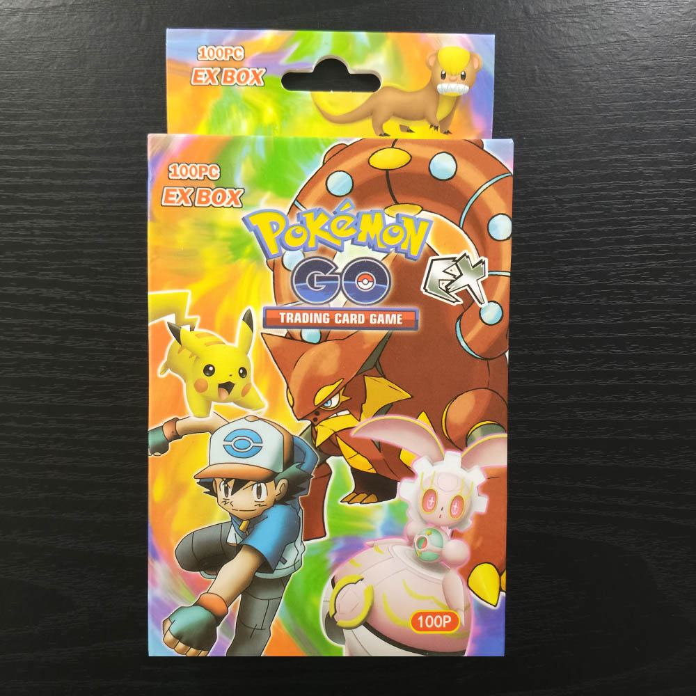 TAKARA TOMY Pokemon Cards Battle Shining Card Board Game 100pcs Flash Cards Collections Children Toys Gifts 80 EX 20 MEGA