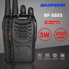 2 個 baofeng BF 888S トランシーバー BF888s 双方向ラジオ 5 ワット UHF 400 470MHz Comunicador 送信機トランシーバ 1 5 キロトーク範囲