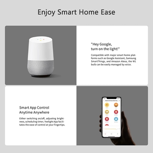 Image 3 - 2021 Yeelight GU10 Dimmable Smart LED Bulb YLDP004 AC 220V 4.8W Warm White Bulb Work With Google Assistant Alexa Razer Chroma