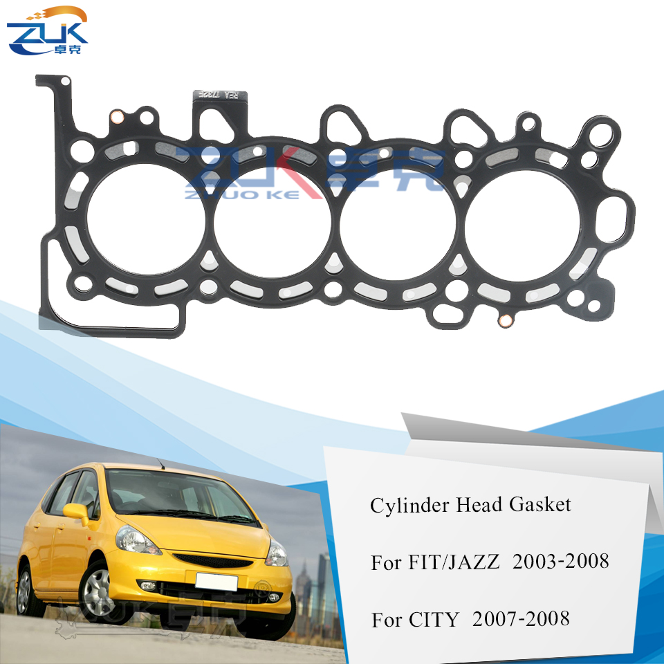 HONDA FIT JAZZ GD1 용 ZUK 엔진 실린더 헤드 가스켓 2005 2006 2007 2008 1.3L 자동차 용 CITY FIT Saloon GD6 용 12251-REA-Z01