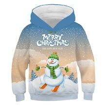 Рождественская одежда для снеговиков 3d детей сезон осень зима;