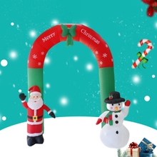 2.4M Inflatable Arch Door Santa Claus Snowman Christmas Outdoor Ornaments Xmas New Year Party Home Shop Yard Garden Decoration