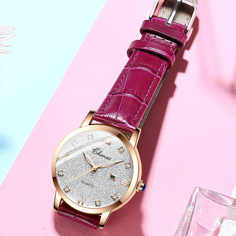 Starry Sky Watches For Women Casual Fashion Elegant Woman Watch Date Waterproof Genuine Leather Watch Women 2021 Relojes Mujeres
