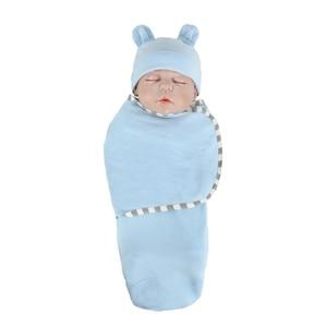 Детский спальный мешок, накидка + шапка, 2 шт., комплект для новорожденных, детское одеяло, Пеленальный спальный мешок, спальный мешок, коляск...