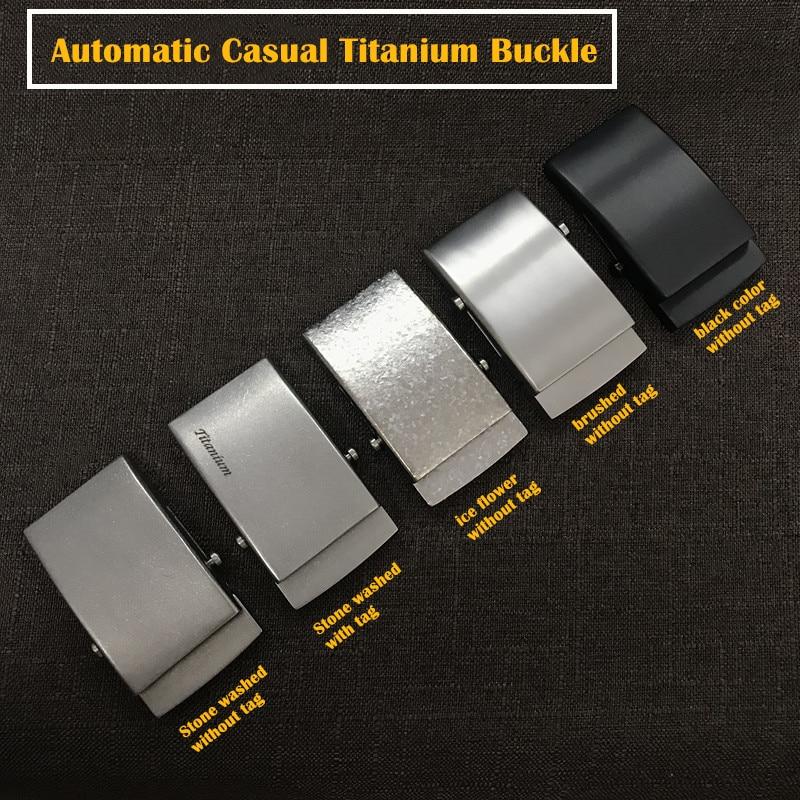 """Casual Automatic Titanium Buckle (1½"""") Nickel Free Titanium Buckles 35 Mm / 38 Mm"""