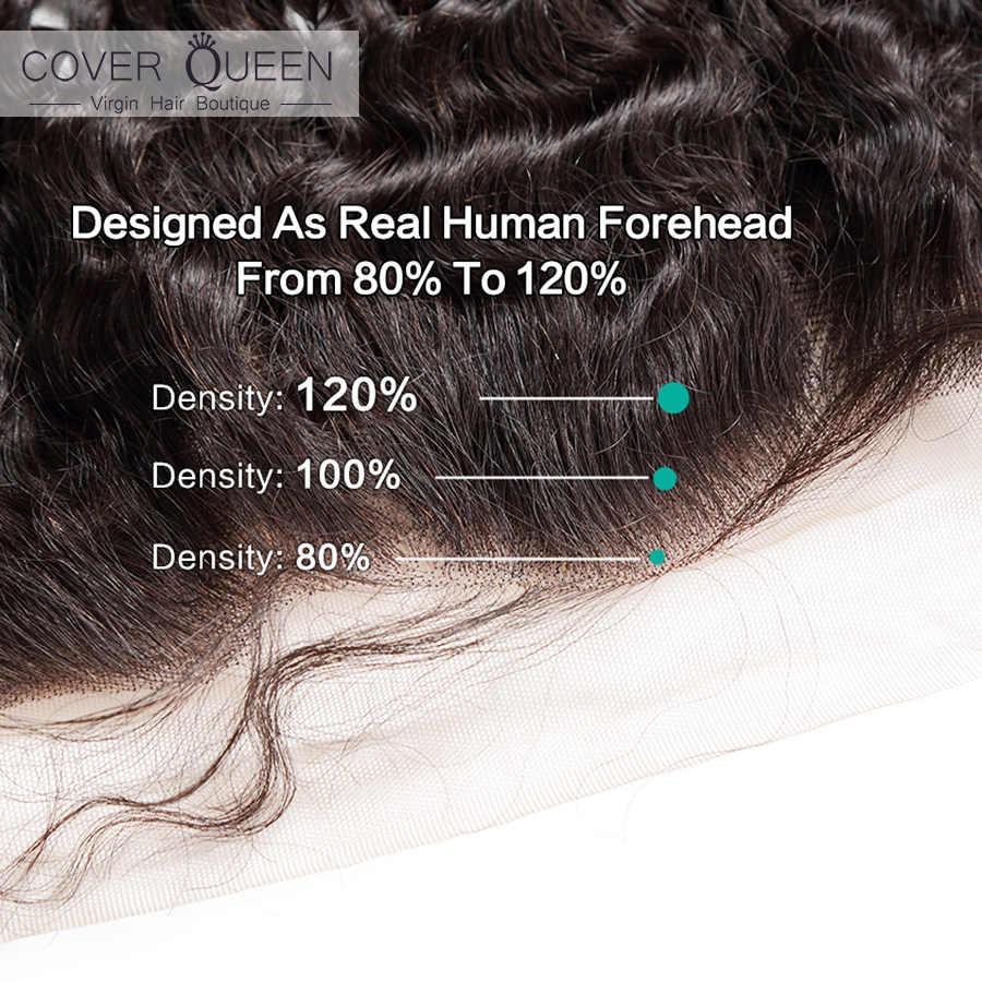 Onda profunda brasileira frontal 13x4 rendas frontal 100% remy encaracolado cabelo humano fechamento do laço orelha a orelha frontal do laço com cabelo do bebê