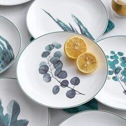 Nordic okrągłe strona główna talerze dekoracyjne kreatywne śniadanie ciasto stek zastawa stołowa żywności wysokiej jakości stojak na talerze 8-cal taca deserowa