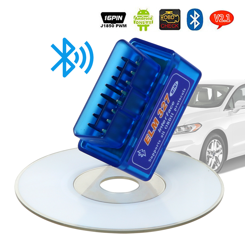 Автомобильный диагностический инструмент сканирующие инструменты считыватели кодов для Android/Symbian для OBDII протокол ELM327 Bluetooth V2.1/V1.5 OBD2
