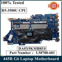 LSC For HP PB 445R G6 Laptop Motherboard With R5-3500U CPU DA0X9KMB8E0 L58788-601 L58788-001 DDR4 MB 100% Tested 1